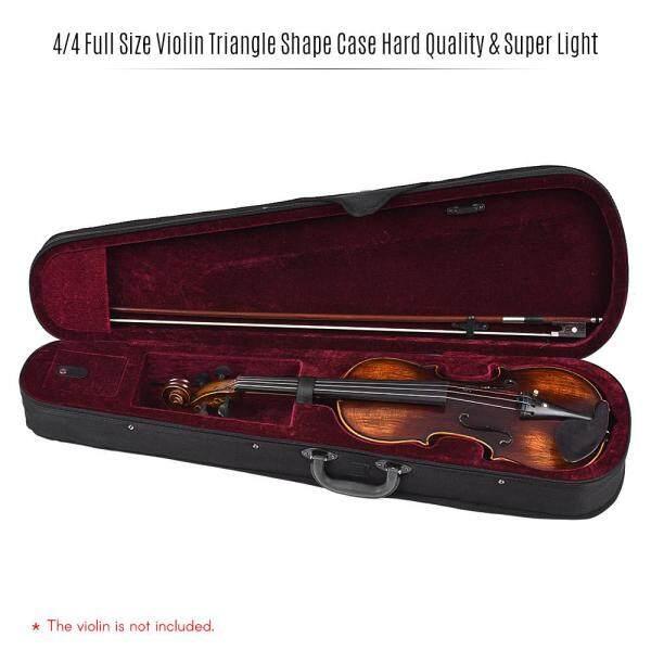 Hộp Đựng Hình Tam Giác Violin Kích Thước Đầy Đủ 4/4 Chuyên Nghiệp Hộp Cứng & Siêu Nhẹ Với Dây Đeo Vai Cho Stradivarius Violins Burgundy