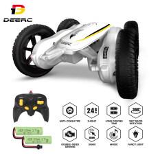 DEERC Mô hình xe ô tô 4WD điều khiển từ xa có thể điều chỉnh chế độ âm nhạc, đèn LED, xe xoay lật 2 mặt 360 độ dành cho bé trai và bé gái phù hợp làm quà tặng – INTL