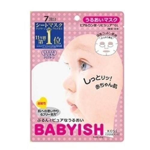 Kose Cosmeport Clear Turn Babyish Moisturizing Mask 7's