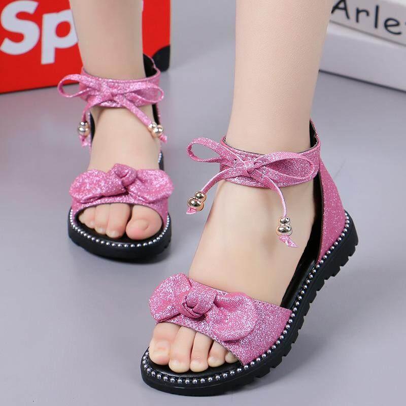 Giá bán OEMGirls Giày Sandal Mùa Hè 2019 Phong Cách Mới Hàn Quốc-phong cách Phẳng Công Chúa Nhỏ Giày Lớn Bé Trai Học Sinh Đế Mềm Trẻ Em Đấu Sĩ giày xăng đan