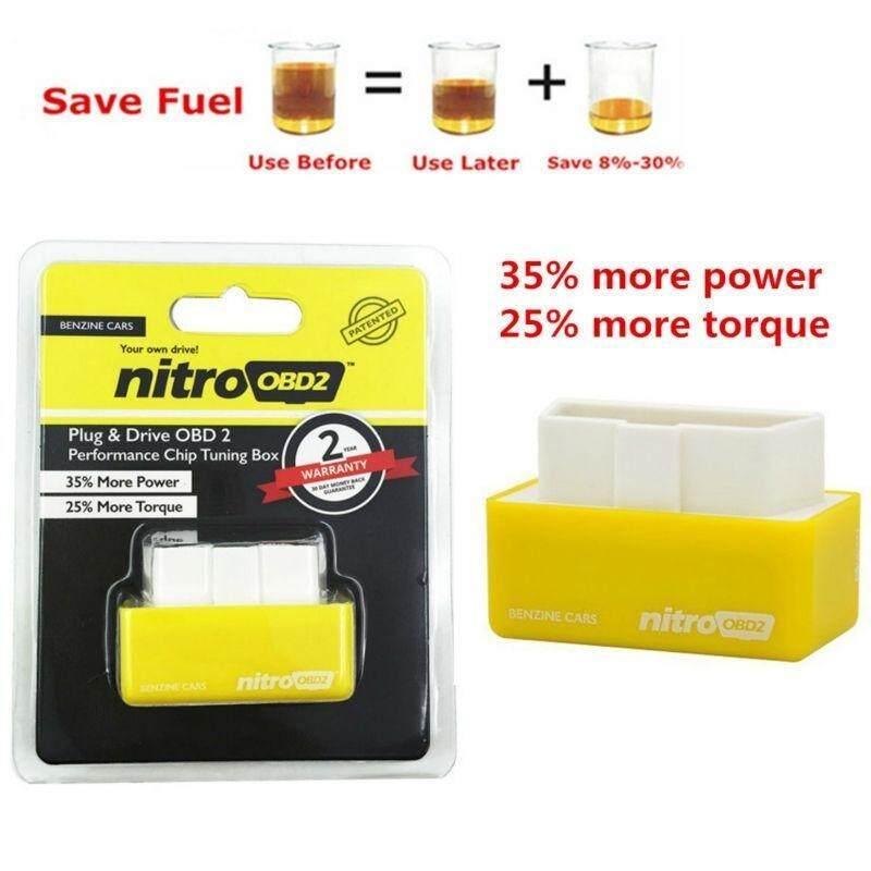 Super ECO NitroOBD2 Gasoline Cars Chip Tuning Box More Power Torque Nitro  OBD Plug & Drive Nitro OBD2 OBD 2 Cars yellow