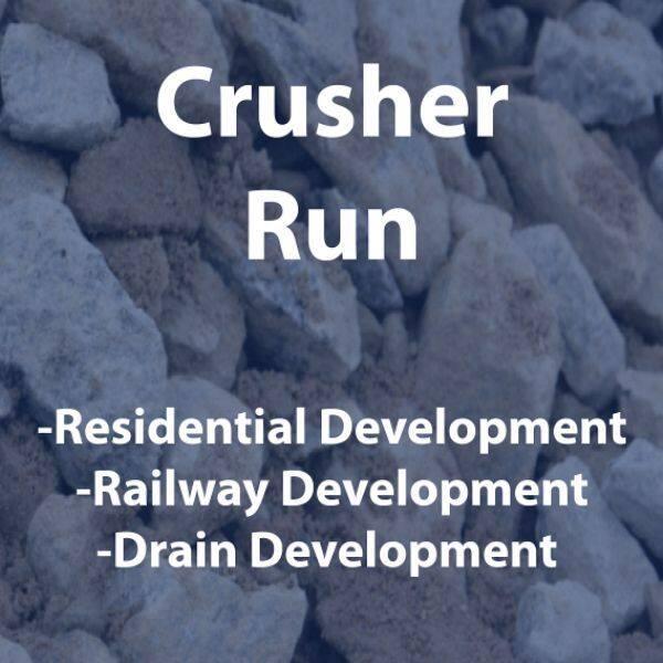 crusher run/stone 50mm 20kg packing