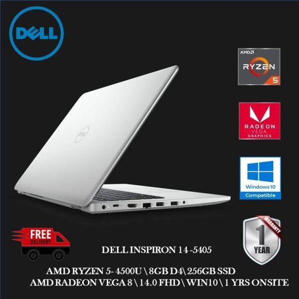 Dell Inspiron 5405-2582SG-W10 14 FHD Laptop Platinum Silver ( Ryzen 5 4500U, 8GB, 256GB SSD, ATI, W10, HS ) Malaysia