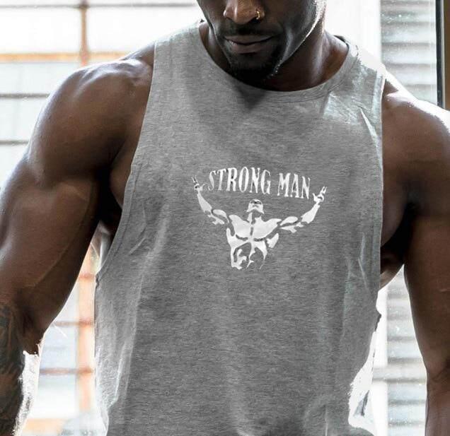 M-XXL Men Gym Muscle Sleeveless Tank Top T-shirt Workout Fitness Cotton Vest
