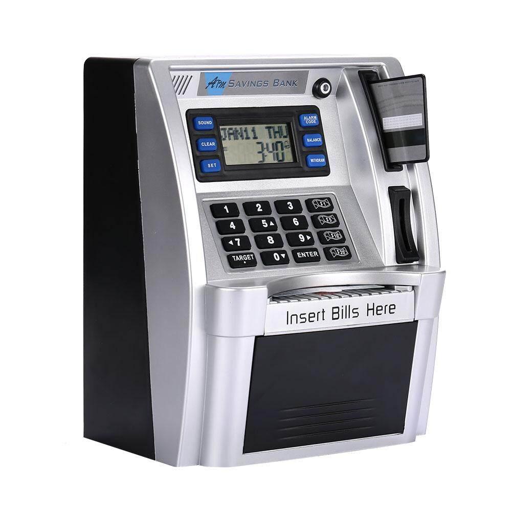 Nữ Store Thời Trang Công Nghệ Bán!!!!!!!!! ATM Đựng Tiền ATM Giá Đỡ Điện Thoại Hình Con Heo Mô Phỏng Bạc có MÀN HÌNH LCD Màn Hình Đồng Tiền Ngân Hàng Mật Khẩu Hộp