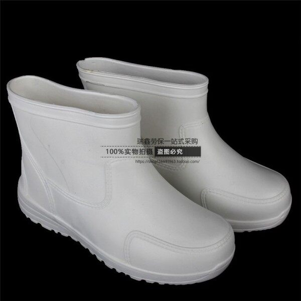 Chef Work ShoesEVAFoam Boots Knee-High White Black Waterproof Shoes Mens and Womens Rain Boots Oil-Resistant Shoes Food Factory Shoes