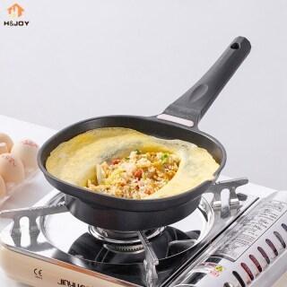 H & JOY Chảo Omurice Phong Cách Nhật Bản, Chảo Chiên Chống Dính, Chảo Tráng Trứng Chảo Ăn Sáng Khuôn Omurice Đồ Nấu Nướng Nhà Bếp thumbnail