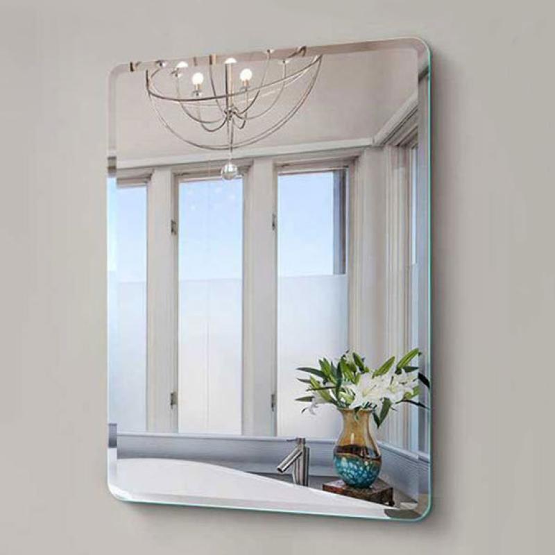 Đơn Giản Châu Âu Không Đánh Bóng Gương Vát Gương Hình Chữ Nhật Gương Tròn Góc Gương Trang Điểm Gương Phòng Tắm Chống Cháy Nổ Gương Khách Sạn Kính Phòng Tắm Gương Treo Tường Gương 40X60 Cm
