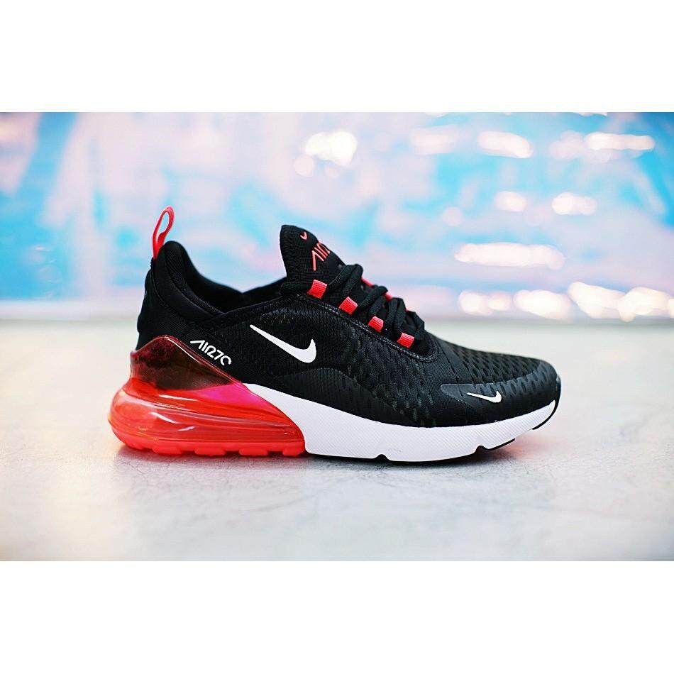 competitive price 8db18 ec01e New Nike Air Max 270 Shoes Men Airmax 27c Flyknit Running Shoes Sport  Sneakers Black