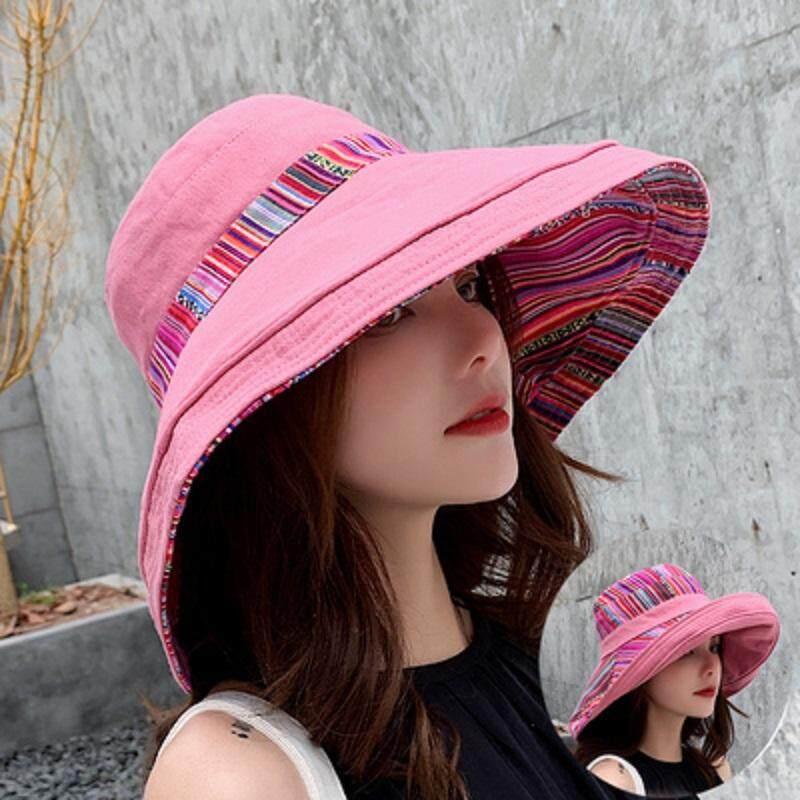 d94f62394 Women Korean of all-in-one travel sun hat sun block uv sun hat lady summer  two sides can wear