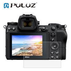 PULUZ 2.5D Cạnh Cong 9H Độ Cứng Bề Mặt Kính Cường Lực Bảo Vệ Màn Hình Cho Nikon D5300 D5500 D500 D600 D610 D7100 D7200 D750 D800 D810 Z6 Z7