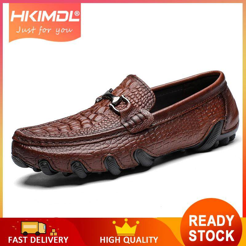 c8b20e4b3a96cd HKIMDL Cow Leather Big Size 38-47 Men Casual Shoes Luxury Brand Mens  Loafers Moccasins