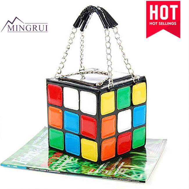 Giá Rẻ Trong Hôm Nay Khi Sở Hữu Mingrui Túi Xách Thời Trang Nữ Dễ Thương Khối Lập Phương Rubik Lớn Dung Tích Túi Stachel Túi Cầm Tay Clutch