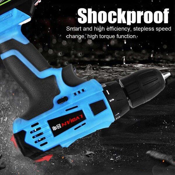 【Free shipping】8V Cordless Drill Combi Driver Screwdriver LED Worklight 7500mAh