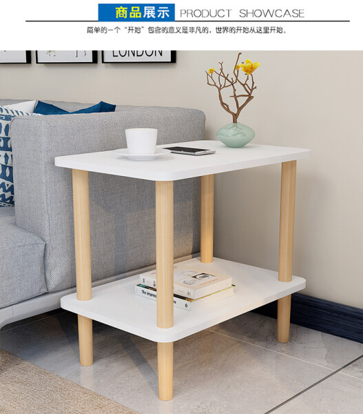 Sofa Small Side Table Bedside Table Simple Small Coffee Table Square Table Living Room Sofa Sofa Cabinet Small Bedside Coffee Table