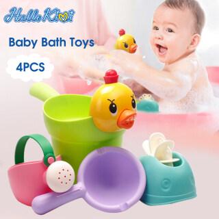 HelloKimi Set 4 món đồ chơi dùng khi tắm cho các bé, chất liệu an toàn thân thiện với môi trường - INTL thumbnail