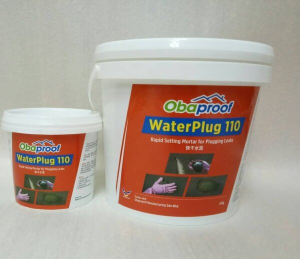 Obaproof WaterPlug  110 4kg ( Rapid Setting Mortar for Plugging Leaks )