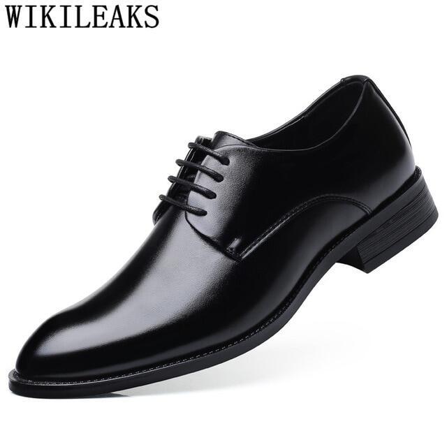 Giày Vest Nam Màu Đen Giày Tây Nam Dự Tiệc Giày Kiểu Ý Zapatos Hombre Trang Trọng Người Đàn Ông Văn Phòng Sapato Xã Hội Masculino