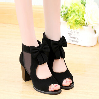 Summer High Heeled Shoes Fashion Vintage Pumps Ladys Sandals for Women thumbnail