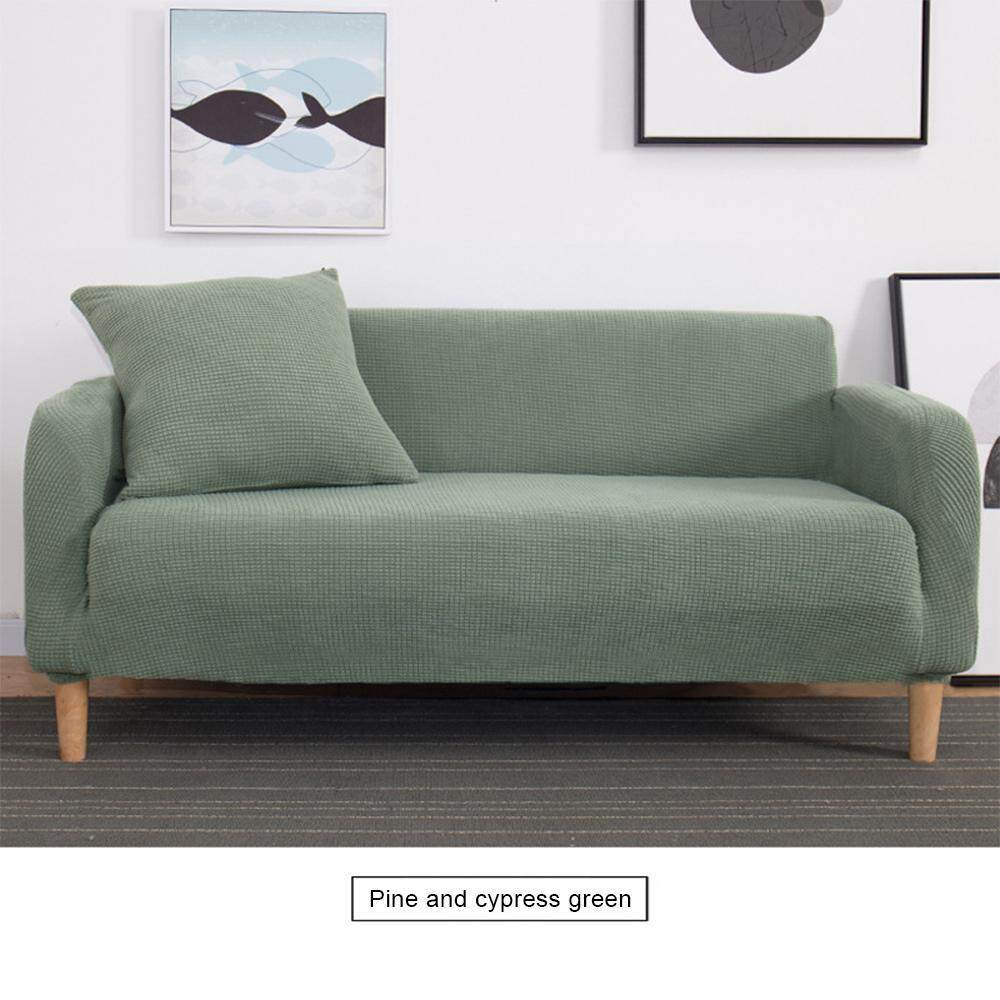 BuyBowie Thick Sofa Covers,1/2/3/4 Seater Pure Color Sofa Protector,Soft Spandex Easy Fit Elastic Fabric Stretch Couch Slipcover For All Types Of Sofas