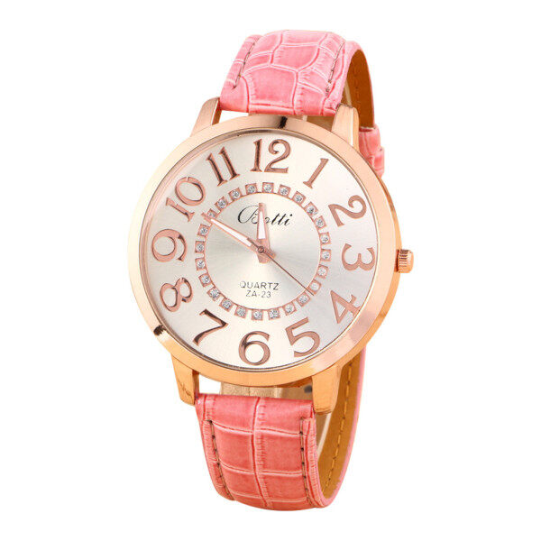 Beautiful cheap womens watches Simple Fashion Printed Strap With Big Digital Round Dial Ladies Quartz Watch Malaysia