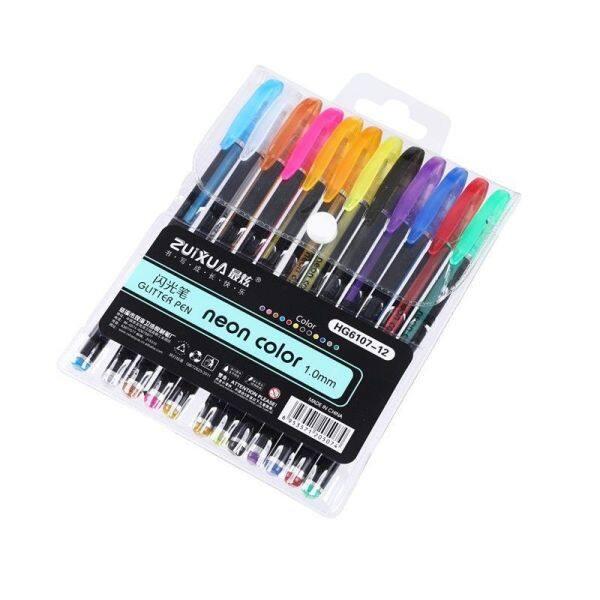 Mua 12/18/24/36/48 Colors Kawaii Kim Flash Ballpoint Pen Màu Bút Set Pastel Neon Glitter Phác Thảo Vẽ Tranh Highlighter Pen Trường Văn Phòng Phẩm