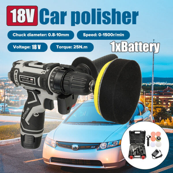 【Lowest Price】18V 25N.m Car Polisher Lithium Battery Cordless Portable Charging Multifunctional Polishing Machine For Car waxing Scratch repair