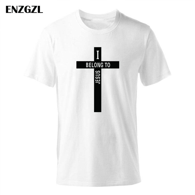0a1f1a88d Product details of AAAAA 2019 New T Shirt Mens Tees Boys Male T-Shirts Tops  cotton O neck tshirt Christian church youth Worship I BELONG TO JESUS L2935
