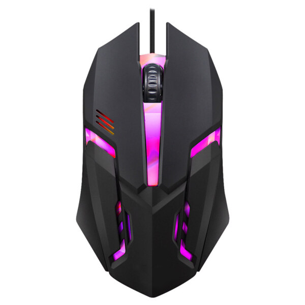 USB Wired Mouse LED Luminous Colorful Computer Gaming Mouse Professional 2400 DPI Ultra-precise Game Mice For Laptop PC