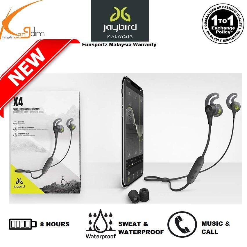 e69f5975852 Jaybird X4 Wireless Bluetooth Headphones for Sport, Fitness and Running,  Compatible with iOS and