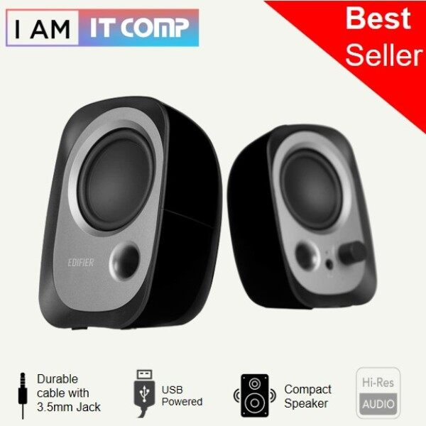 Edifier R12U Active USB Powered Speakers - Black Malaysia
