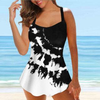 Bikini Quiny Cho Nữ Nữ Bộ Tankini Có Dây In Họa Tiết Ngoại Cỡ, Đồ Bơi Hai Mảnh Quần Lót Tắm thumbnail
