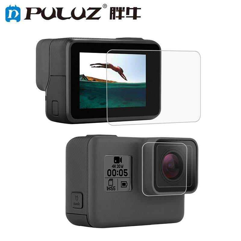 PULUZ Tempered Glass Protector Cover Case for Gopro Hero 5 6 7 Camera Lens Cap LCD