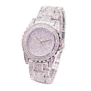 Talent Star Đồng hồ đeo tay thạch anh đính đá lấp lánh kiểu dáng sang trọng dành cho nữ - INTL thumbnail