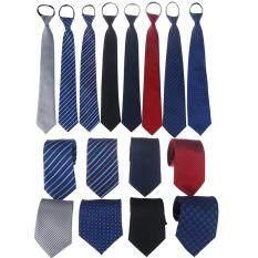 Cà Vạt JOLLIC Cho Nam, Cà Vạt Có Khóa Kéo, Một Màu, Kẻ Sọc, Phong Cách Doanh Nhân, Đám Cưới, Hàng Ngày