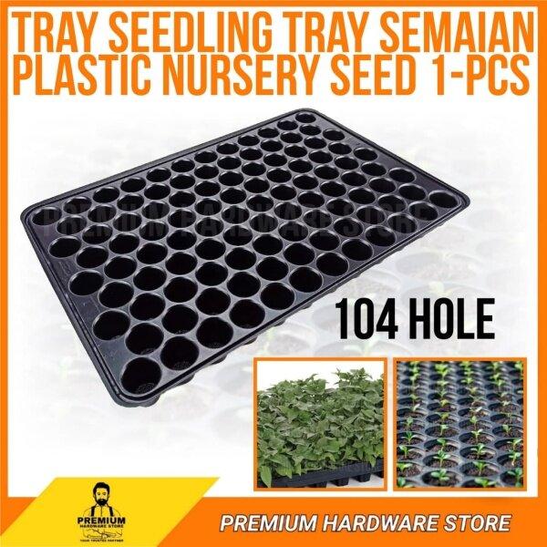 104 Hole Tray Seedling Tray Semaian Plastic Nursery Seed 1-pcs
