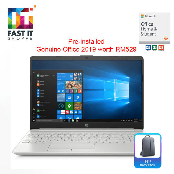 HP 15S-DU1075TX NATURAL SILVER with OPI ( I5-10210U,4GB,512SSD,MX130 2GB,15.6 FHD,W10,2YRS ) Malaysia
