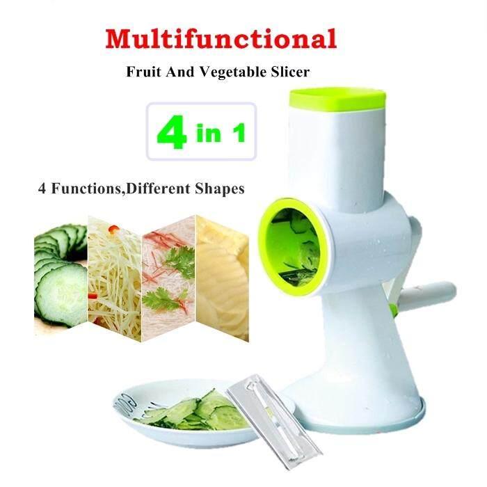 Multifunctional 4 in 1 Mandoline Fruit Vegetable Slicer Julienne Kitchen Grater