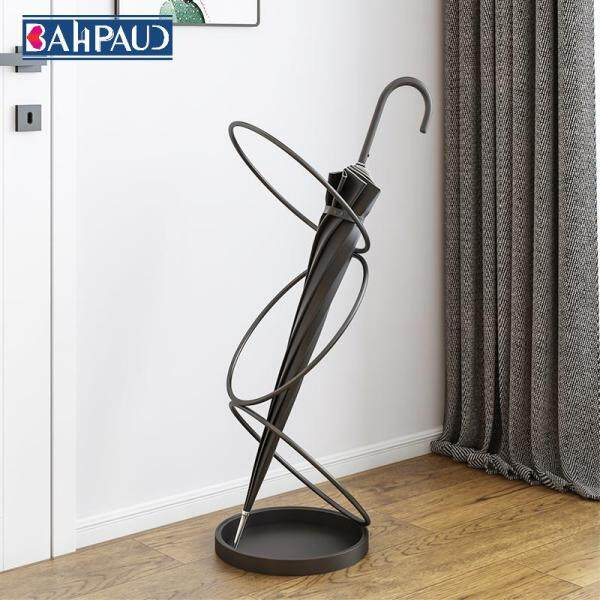 Bahpaud Nordic Wrought Iron Umbrella Stand 24x24x68cm Umbrella Bucket At The Entrance Of The Hotel
