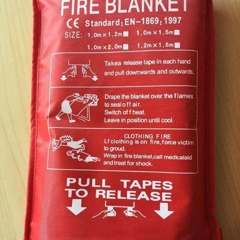Fire Blanket 1M x 1M Emergency Survival Fiberglass Fire Flame Retardant Safety Cover Fires Glass Fiber Clothing Blanket Home
