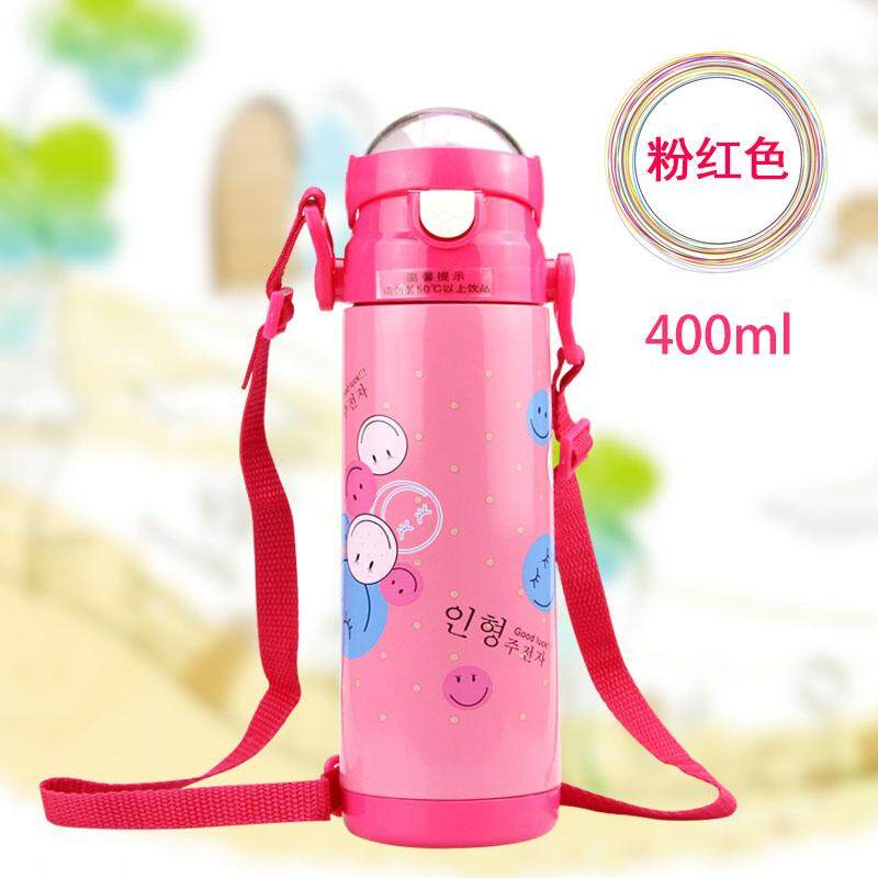 Insulated Stainless Steel Bottle Cup With Straw Water Glass Summer Cute Cartoon Baby Sub-Childrens Kettle Vacuum Cup By Taobao Collection.