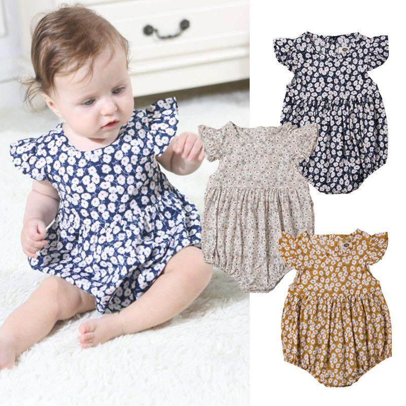 373df3e1037 Fashion Newborn Baby Girl Floral Romper Jumpsuit Bodysuit Outfits Clothes  Summer
