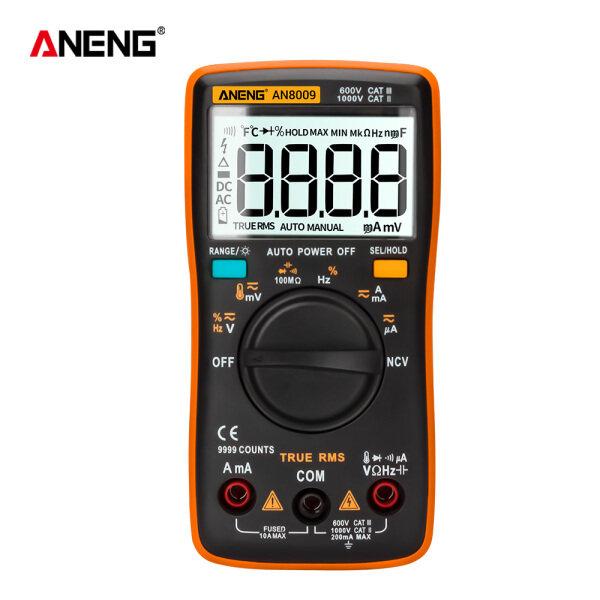 Bảng giá Đồng hồ vạn năng kỹ thuật số aneng an8009, Máy đo điện áp AC/DC ôm kế NCV Phạm vi tự động đếm 9999 True-RMS