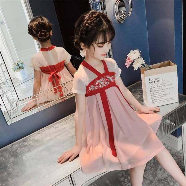 Giá bán Forher FORHIM Áo Kiểu Nữ Mùa Hè 2020 Trẻ Em Mới Của Váy Thời Trang Mùa Hè Dài Và Trung Bình Siêu Tiên Phong Cách Trung Hoa hanfu KE200120