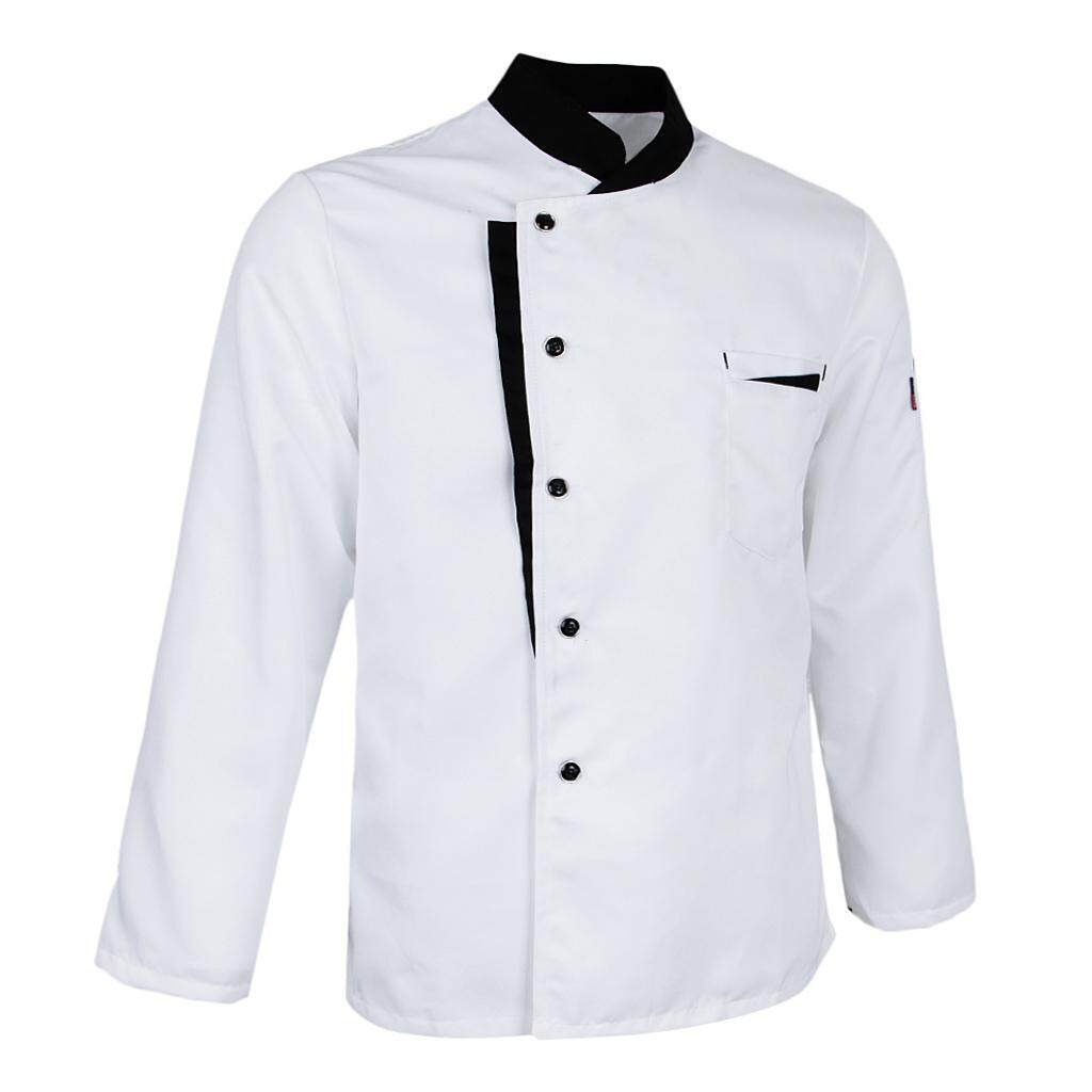 Blesiya Chef Uniform Long Sleeve Working Clothes Coat Hotel Jacket Workwear Shirt