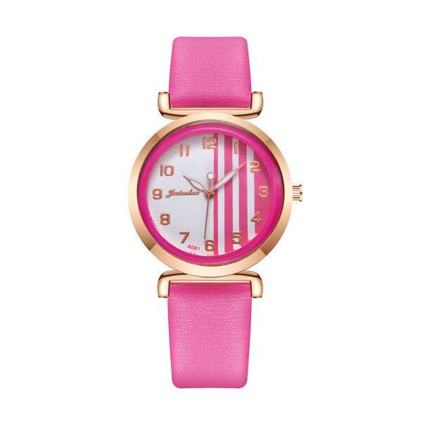 KLEIN Fashion Creative Watch Belt Quartz Ladies Watch Two-color Vertical Stripes Malaysia