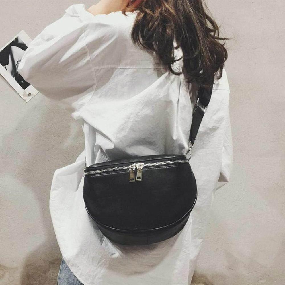 NG Women Leather Waist Bag Casual Belt Shoulder Zipper Crossbody Chest Bag