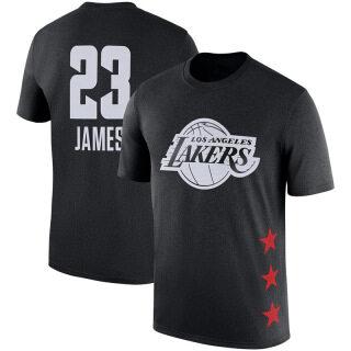 Áo Phông Bóng Rổ Tay NGẮN Los Angeles Lakers, NBA-STAR Áo Phông Thường Ngày Thể Thao Cổ Tròn Tập Thể Dục Bóng Rổ Lebron-james thumbnail