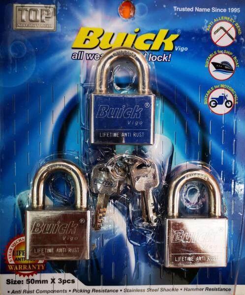50mm x 3pcs Buick Key Alike Padlock