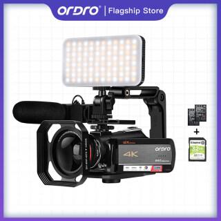 Máy Quay Video 4K, Máy Quay Video ORDRO AC5 UHD Máy Quay Vlog WiFi Kỹ Thuật Số Với Zoom Quang Học 12x 3.1 IPS HD 1080P 60FPS thumbnail